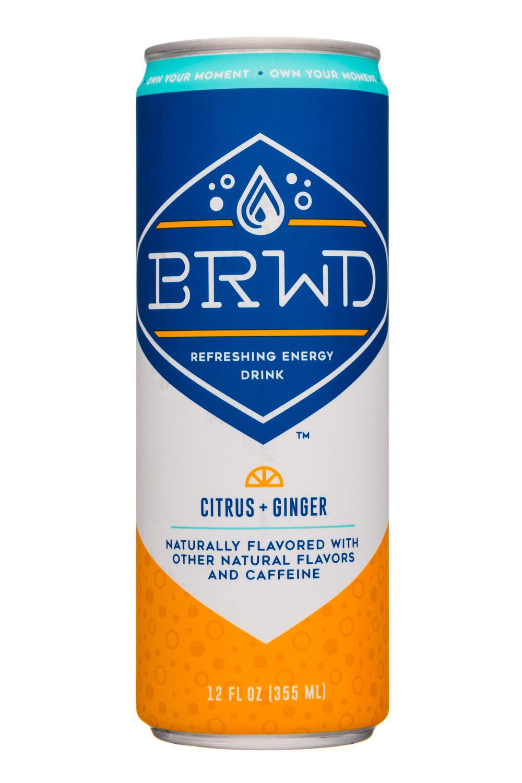 BRWD: BRWD-12oz-EnergyDrink-CitrusGinger-Front
