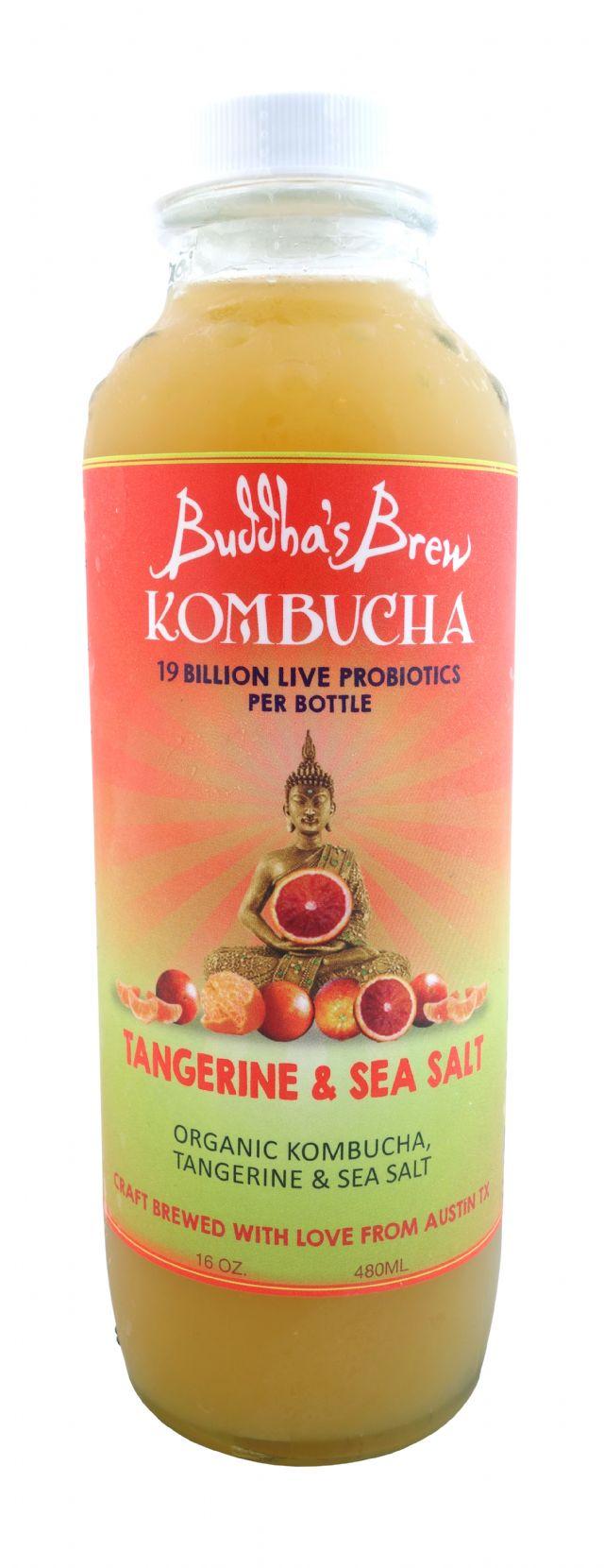 Buddha's Brew Kombucha: BuddhaBrew TangSeaSalt Front