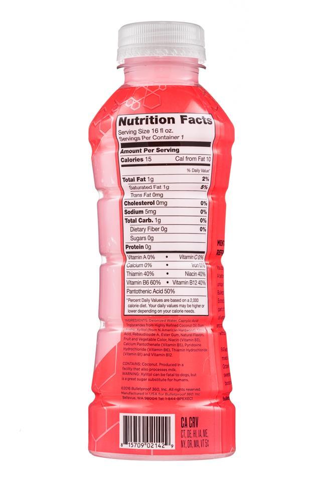 Bulletproof: Bulletproof-16oz-FatWater-Grapefruit-Facts