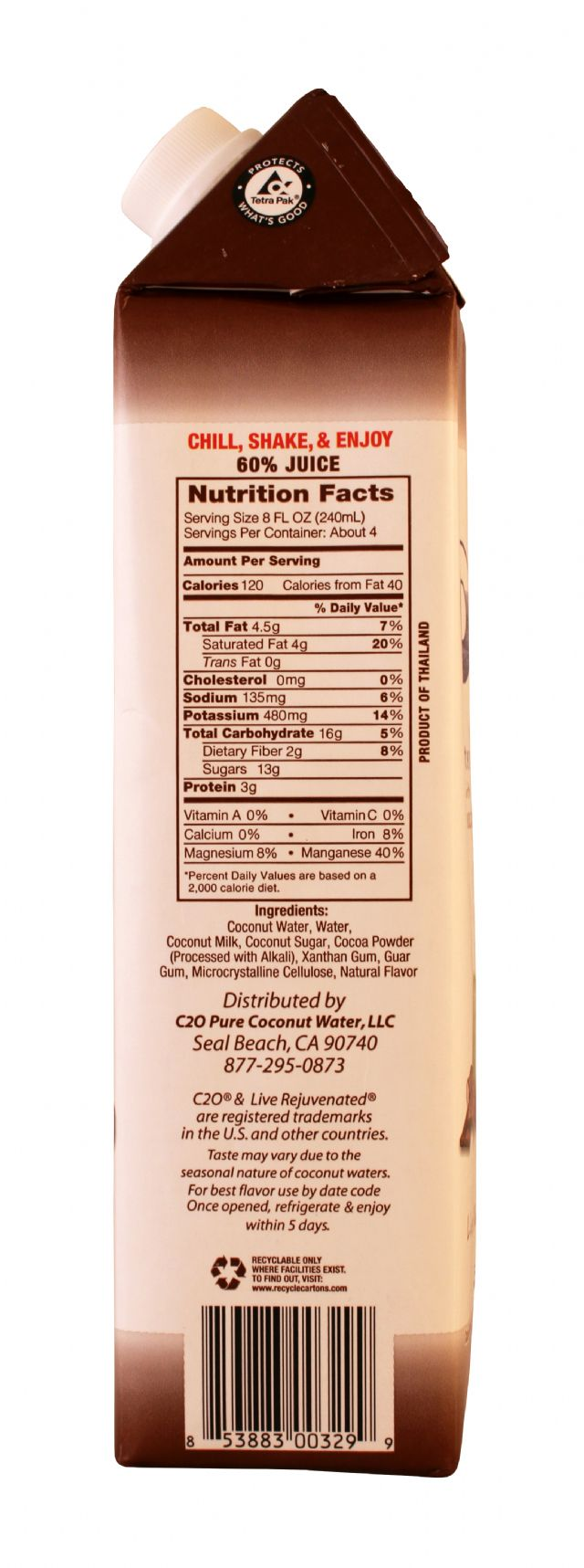 C2O Pure Coconut Water: C2O CocoChoc Facts