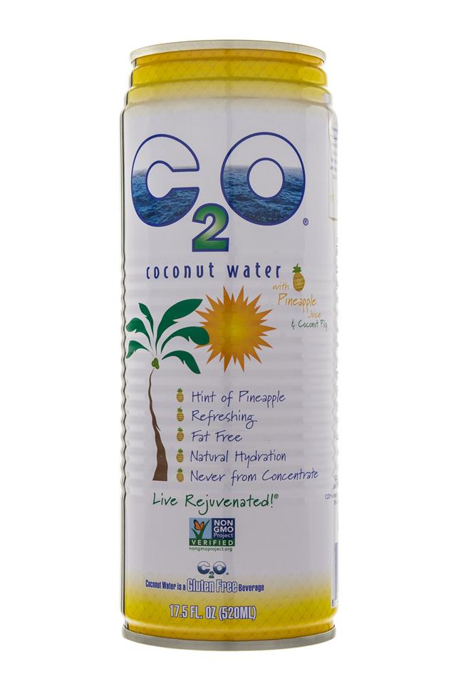 C2O Pure Coconut Water: C20-CoconutWater-Pineapple-Front