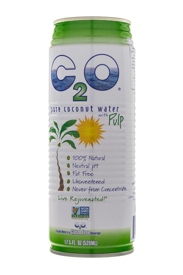 C2O Pure Coconut Water: C20-CoconutWater-Pulp-Front