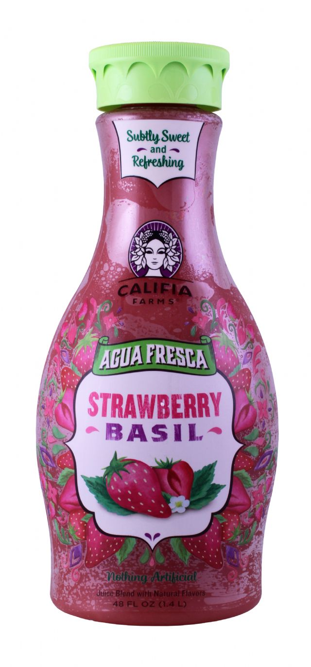 Califia Farms Agua Fresca: Califia StrawberryBasil Front