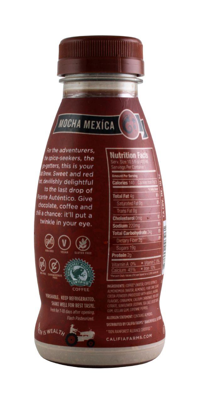 Califia Farms Cold Brew Coffee: Califia MochaMex Facts
