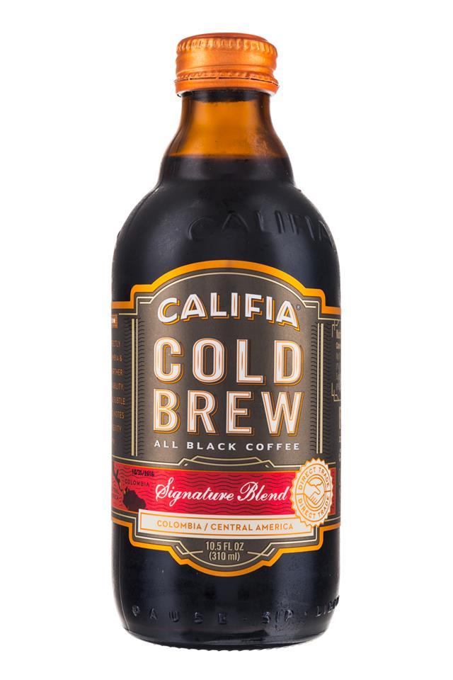 Califia Farms Cold Brew Coffee: Califa-ColdBrew-10oz-SignatureBlend-Front