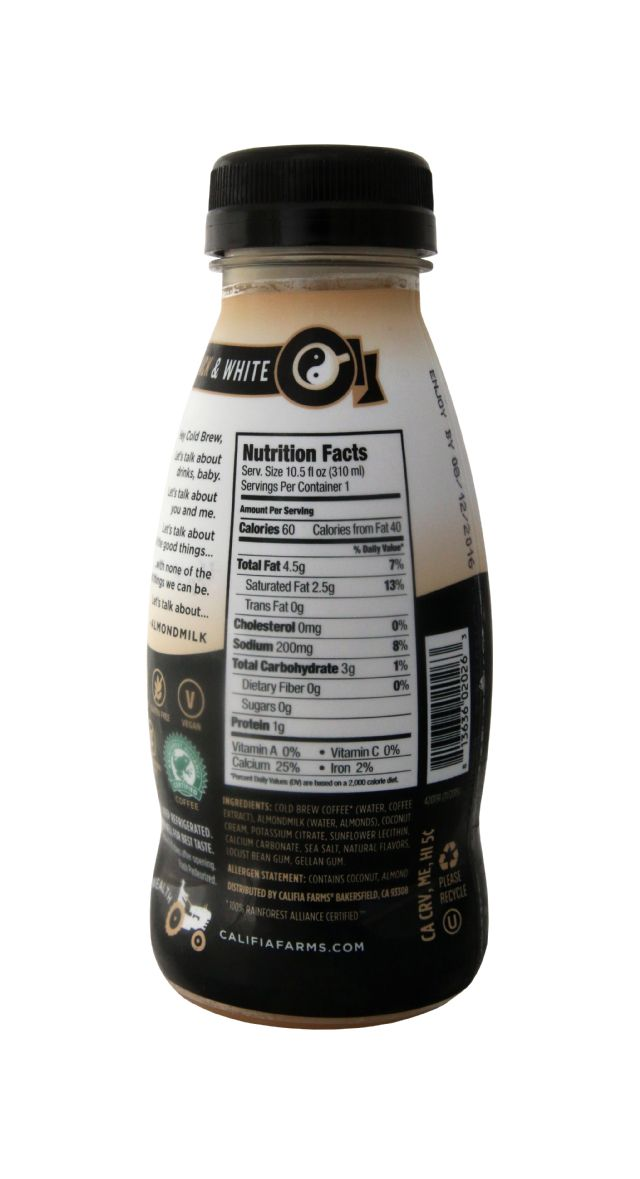 Califia Farms Cold Brew Coffee: Califia ColdBrew Facts