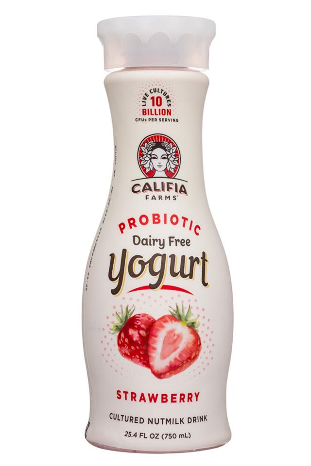 Califia Farms: Califia-25oz-YogurtDrink-Strawberry-Front