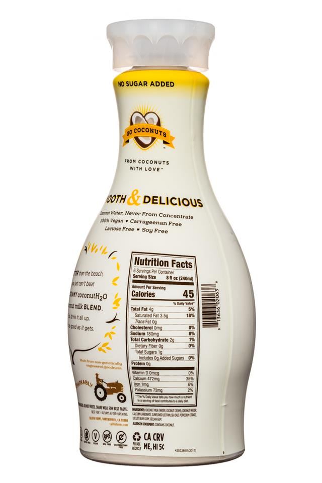Califia Farms: Califia-CoconutMilk-48oz-GoCoconuts-Facts