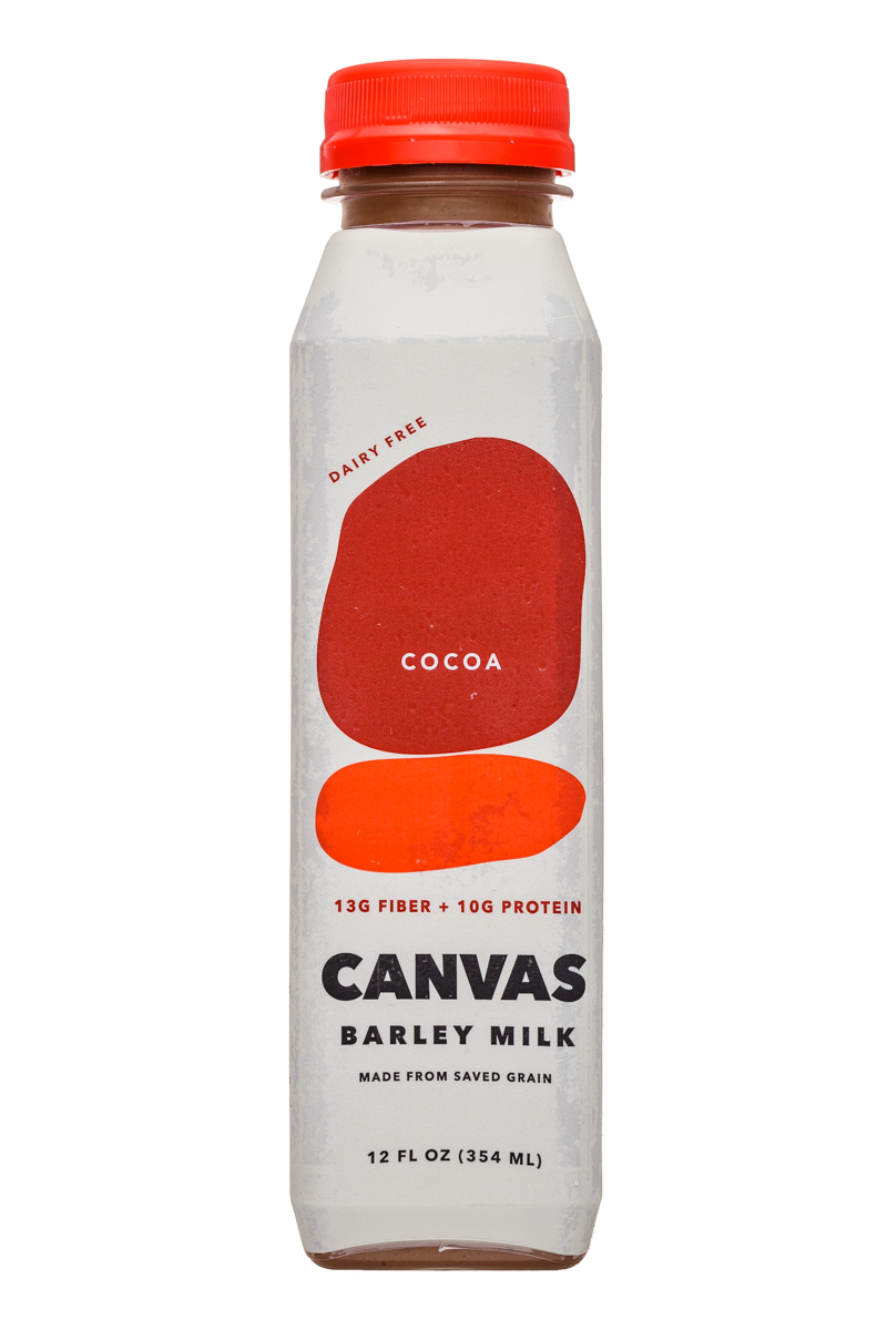 Canvas Barley Milk: Canvas-12oz-BarleyMilk-Cocoa-Front