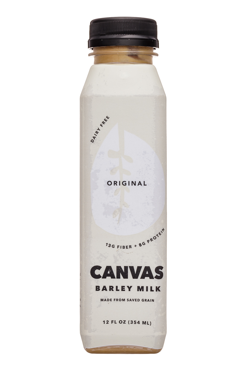 Canvas Barley Milk: Canvas-12oz-BarleyMilk-Original-Front