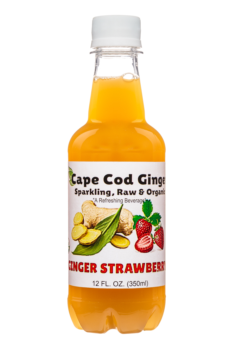 Cape Cod Ginger: CapeCodGinger-12oz-Strawberry-Front