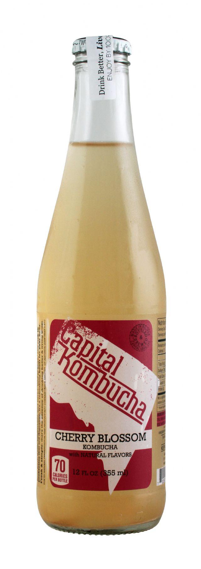 Capital Kombucha: CapKom CherryBloss Front