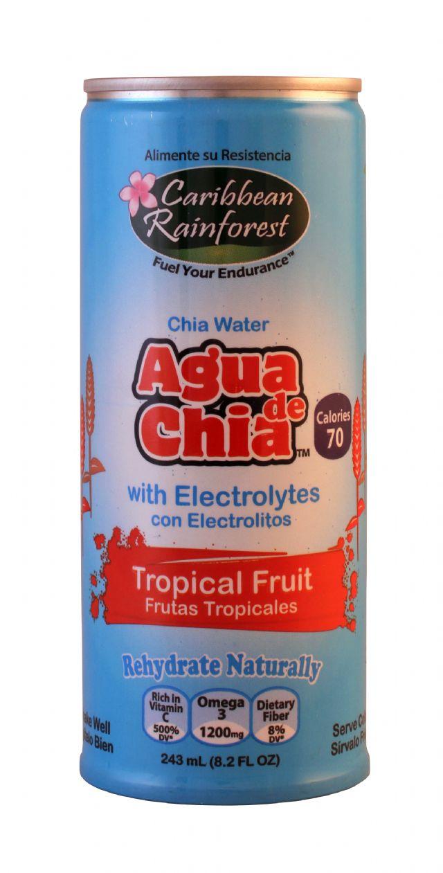Caribbean Rainforst Agua de Chia: Caribbean TropFruit Front