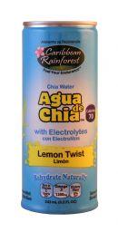 Caribbean Rainforst Agua de Chia: Caribbean Lemon Front