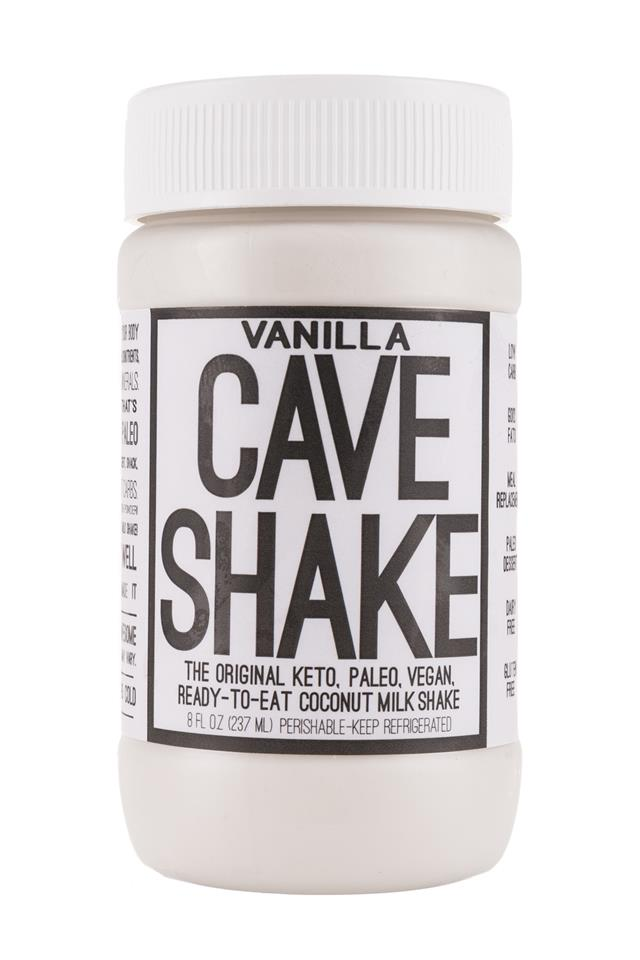 Cave Shake: CaveFoods-CaveShake-8oz-Vanilla-Front