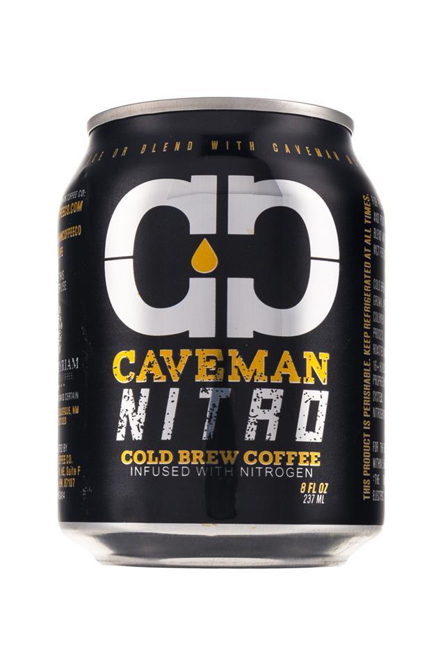 Caveman Coffee: CaveFoods-Caveman-Nitro-8oz-Front