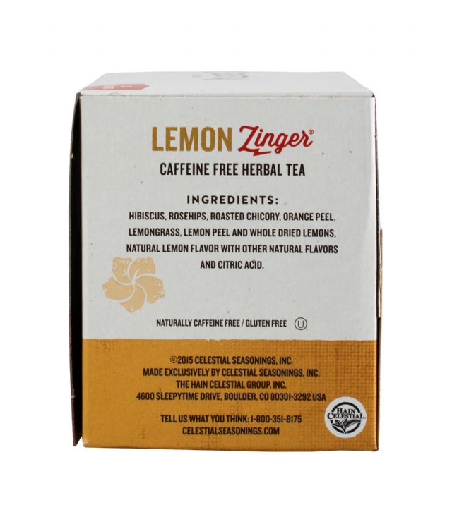 Celestial Seasonings Tea Bags: Celestial LemonZinger Facts