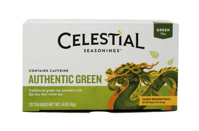 Celestial Seasonings Tea Bags: Celestial GreenTea Front