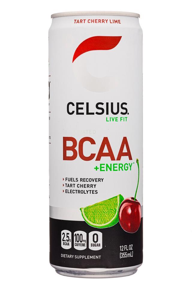 CELSIUS : Celsius-12oz-BCAAEnergy-TartCherryLime-Front