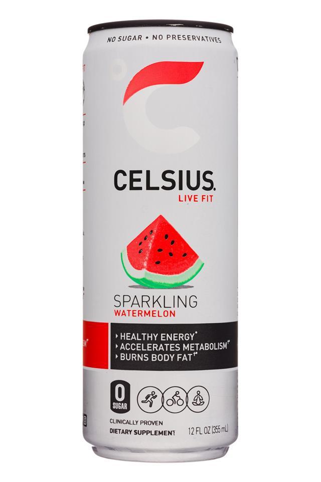 CELSIUS : Celsius-12oz-Sparkling19-Watermelon-Front