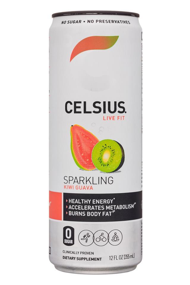 CELSIUS : Celsius-12oz-Sparkling-KiwiGuava-Front