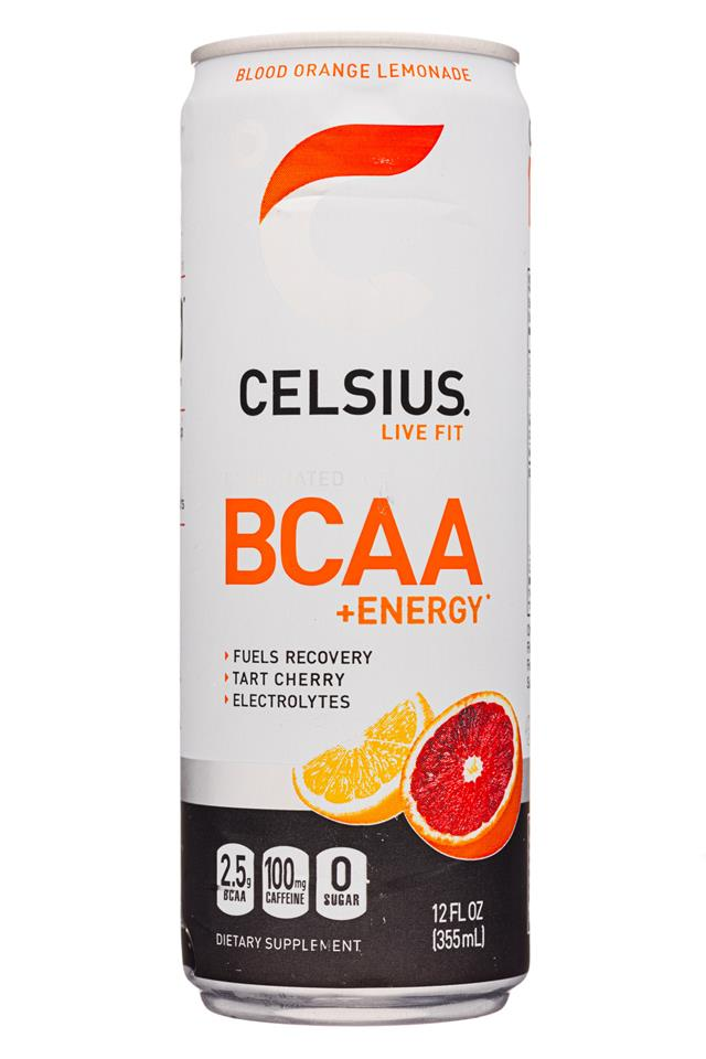 CELSIUS : Celsius-12oz-BCAAEnergy-BloodOrangeLemonade-Front