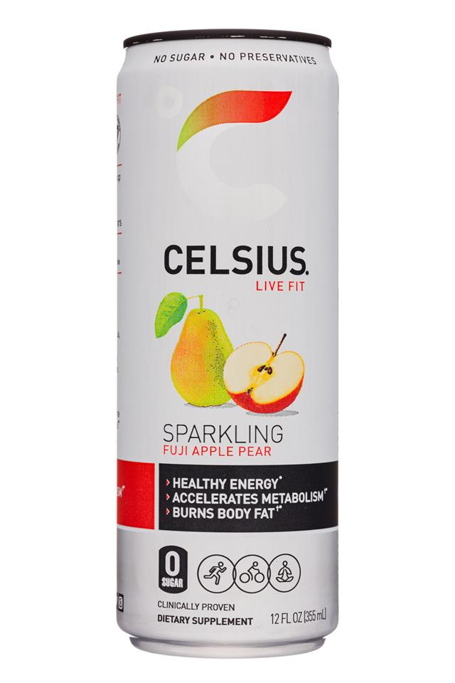 CELSIUS : Celsius-12oz-Sparkling19-FujiApplePEar-Front