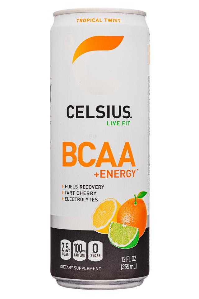 CELSIUS : Celsius-12oz-BCAAEnergy-TropicalTwist-Front