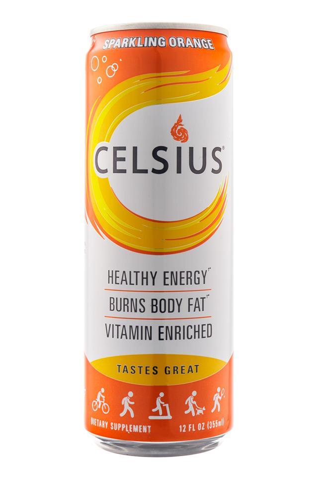 CELSIUS : Celsius-HealthyEnergy-SparklingOrange-Front