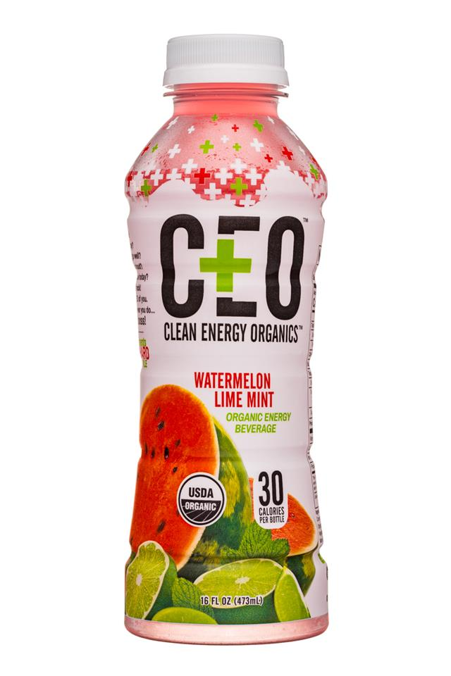 CEO: Clean Energy On-Demand: CEO-16oz-EnergyBev-WatermelonLimeMint-Front