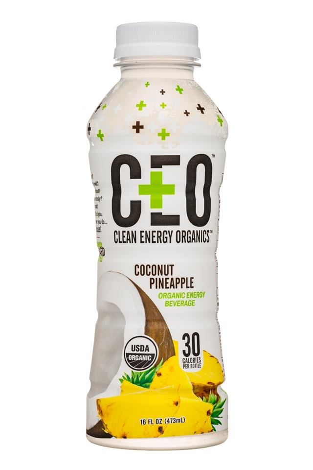 CEO: Clean Energy On-Demand: CEO-16oz-EnergyBev-CoconutPineapple-Front