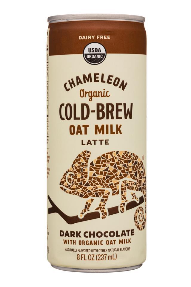 Chameleon Cold-Brew: Chameleon-8ozCan-OatMilkLatte-DarkChoc-Front