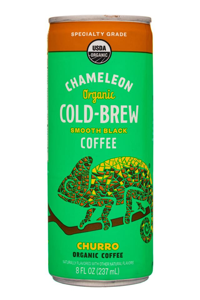 Chameleon Cold-Brew: Chameleon-8ozCan-SmoothBlack-Churro-Front