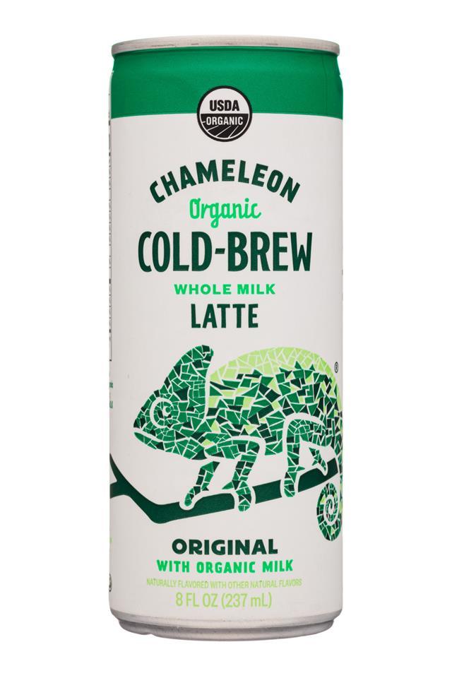 Chameleon Cold-Brew: Chameleon-8ozCan-WholeMilkLatte-Original-Front