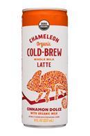 Chameleon Cold-Brew: Chameleon-8ozCan-WholeMilkLatte-CinnDolce-Front