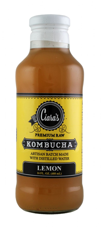 Ciara's Kombucha: Ciara Lemon Front