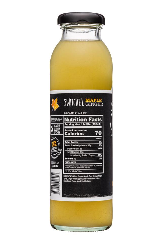 CideRoad Organic Switchel: CideRoad-10oz-Switchel-MapleGinger-Facts