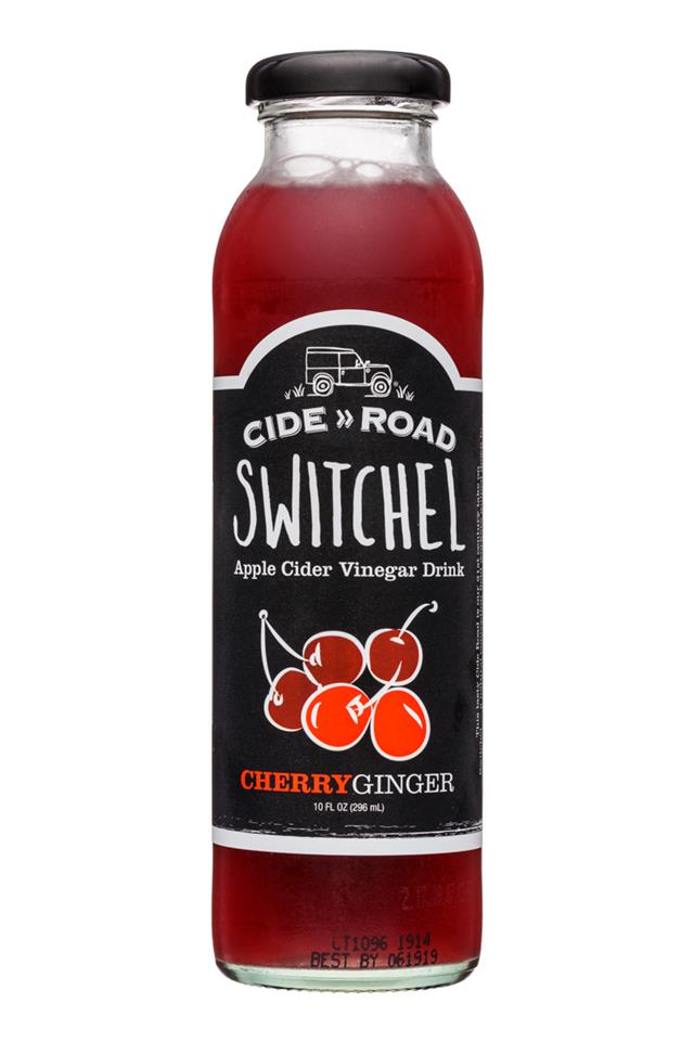 CideRoad Organic Switchel: CideRoad-10oz-Switchel-CherryGinger-Front