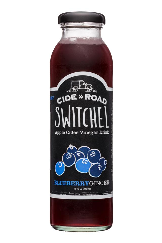 CideRoad Organic Switchel: CideRoad-10oz-Switchel-BluebGinger-Front