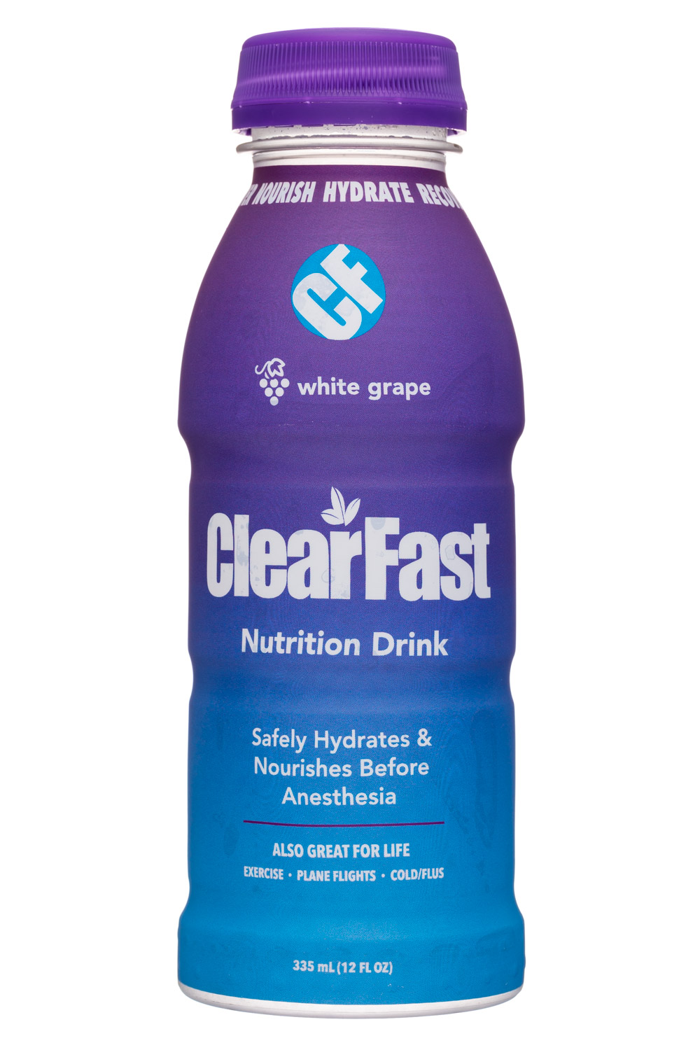 ClearFast: ClearFast-12oz-NutriDrink-WhiteGrape-Front