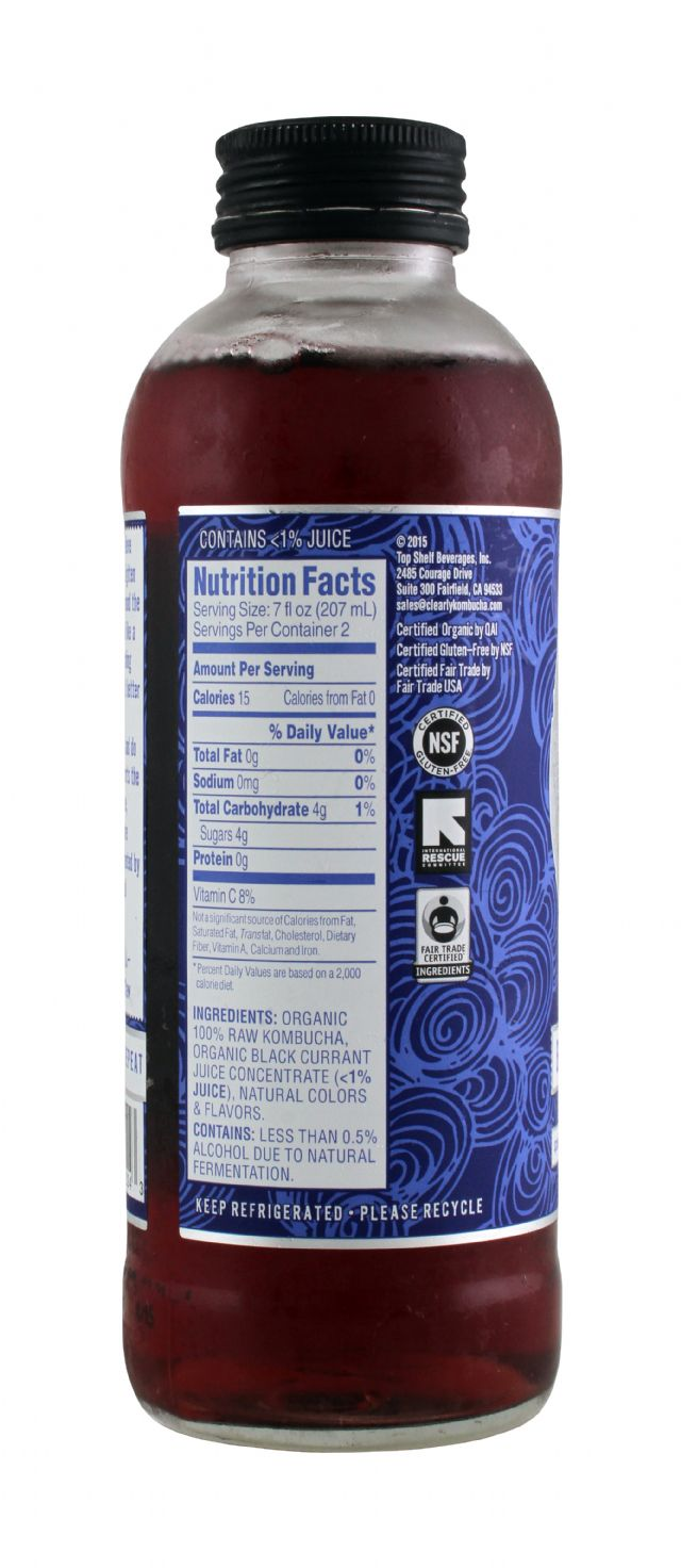 Clearly Kombucha: ClearlyKOM BlackC Facts