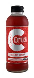 Clearly Kombucha: ClearlyKOM RaspGing Front