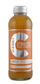 Clearly Kombucha: ClearlyKomucha_PumpkinSpice_FRONT