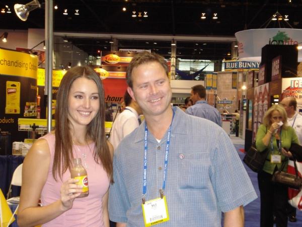 Cocio Chocolate Milk: Erica Ellyson (Penthouse Pet of the Year) with Cocio's Nils Larsson