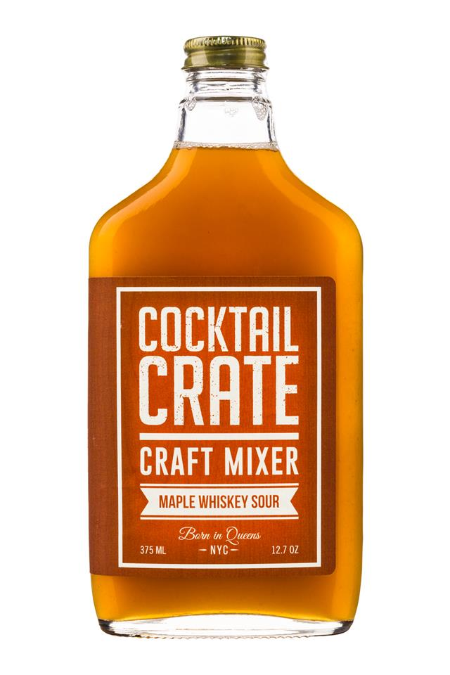 Cocktail Crate: CocktailCrate-12oz-CraftMixer-MapleWhiskeySour-Front