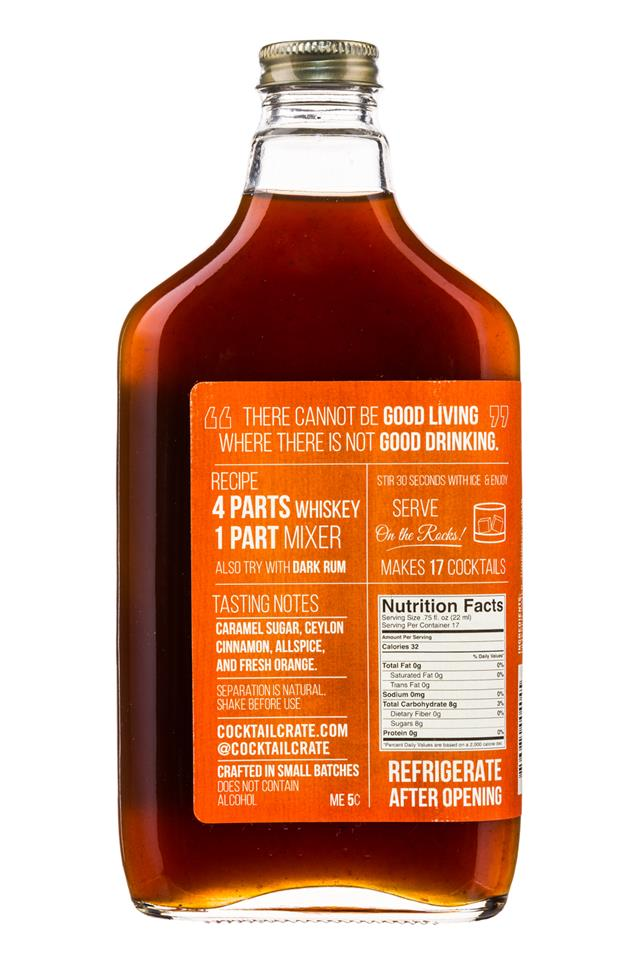 Cocktail Crate: CocktailCrate-12oz-CraftMixer-SpicedOldFashioned-Facts