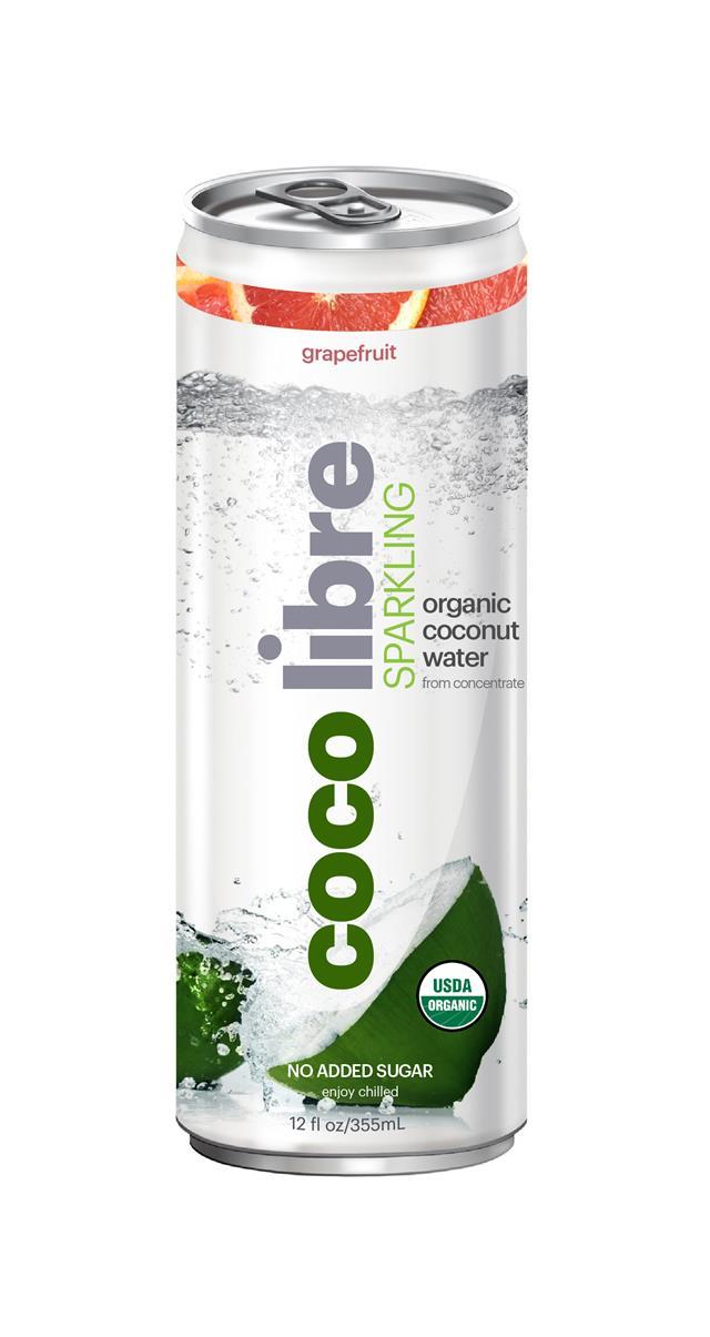 Coco Libre Sparkling Organic Coconut Water: CocoLibre GrapeFruit