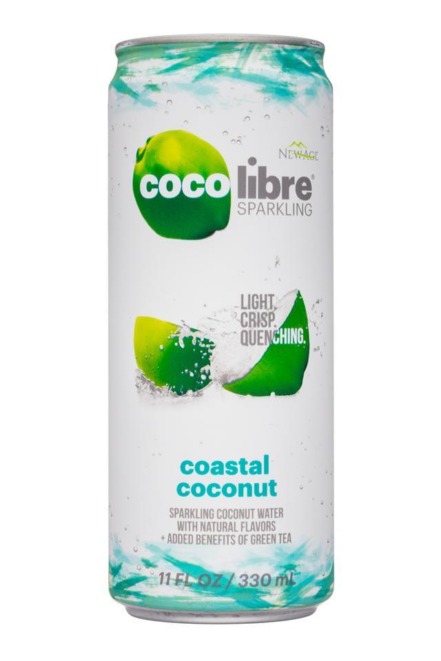 Coco Libre Sparkling Organic Coconut Water: CocoLibre-11oz-SparklingCoconut-CoastalCoconut-Front