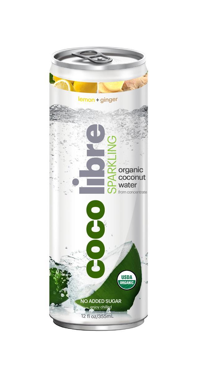 Coco Libre Sparkling Organic Coconut Water: CocoLibre LemGinger