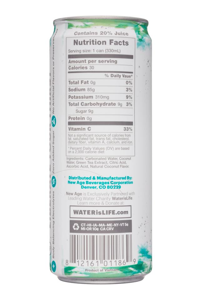 Coco Libre Sparkling Organic Coconut Water: CocoLibre-11oz-SparklingCoconut-CoastalCoconut-Facts